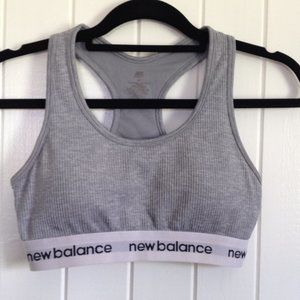 New Balance Grey sports bra size M